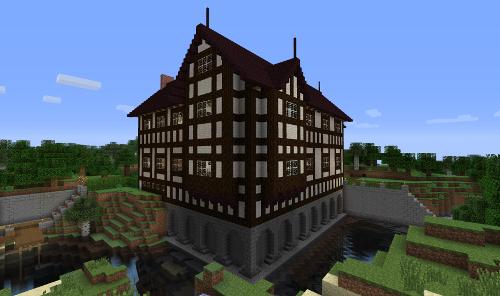 Instant Minecraft Designs Building A Tudor Style House Minecraft Roof Minecraft Designs Minecraft Houses