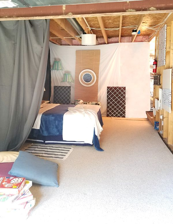 Getting The Most Of An Unfinished Basement! Unfinished Basement Bedroom,  Basement Furniture, Basement