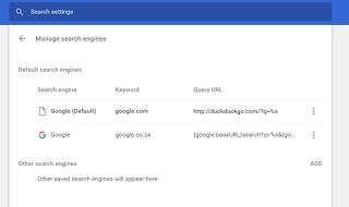 Remove duckduckgo com search engine - Google Chrome Help