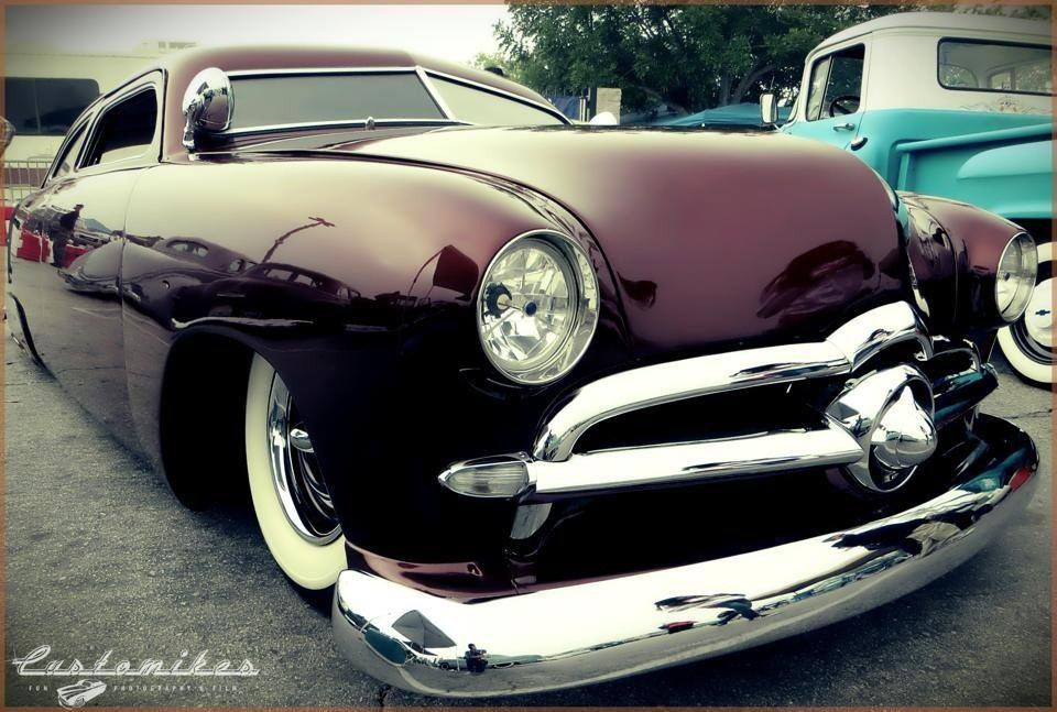 50 Ford, Chopped Top, Dummy Appletons, Frenched headlights, low ...