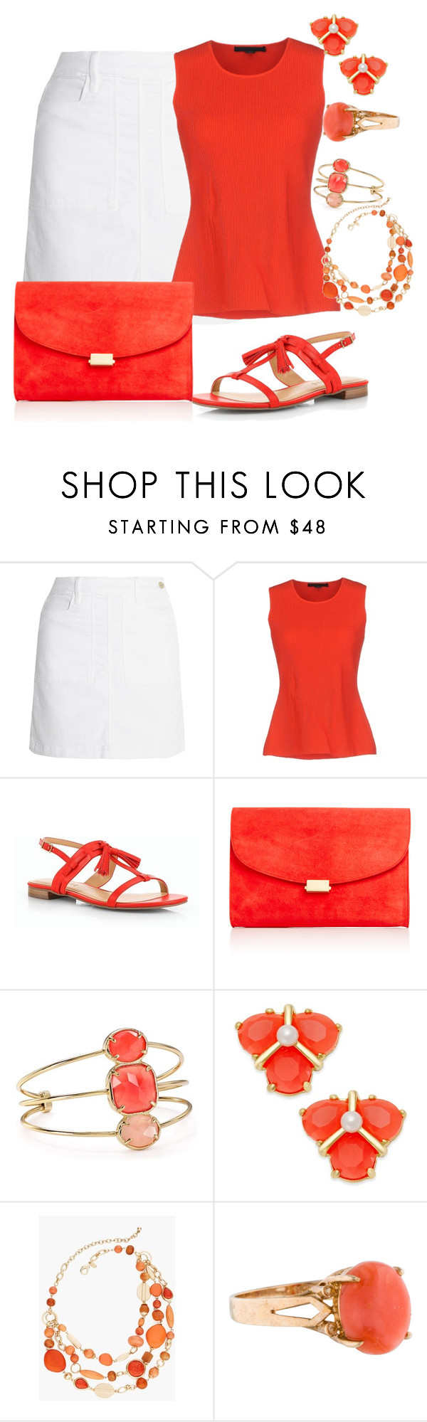 """Bridesmaids Lunch"" by sommer-reign ❤ liked on Polyvore featuring Frame Denim, Alexander Wang, Talbots, Mansur Gavriel, Kate Spade and Chico's"