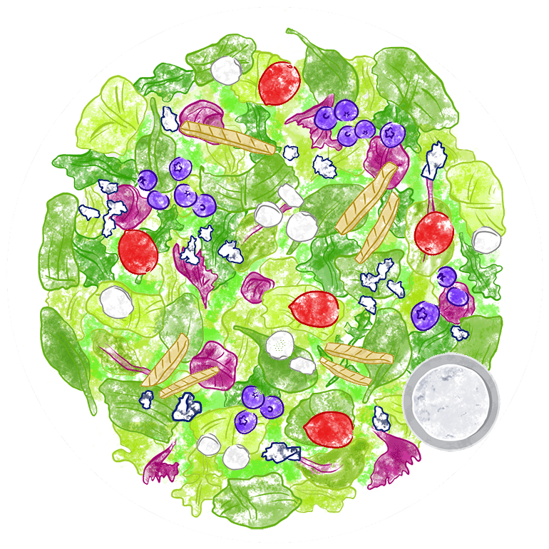 Vote for Extra Blu Crunch. Build A Better Salad for a chance to WIN $500!