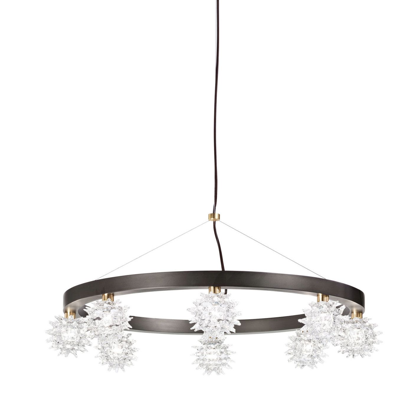 Like a starry sky this cascading chandelier with a circular