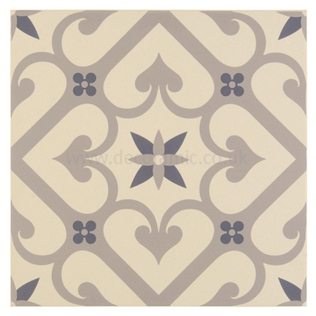Decorative Floor Tiles Original Style Tiles  Epoque Blue Light Grey Dark Blue