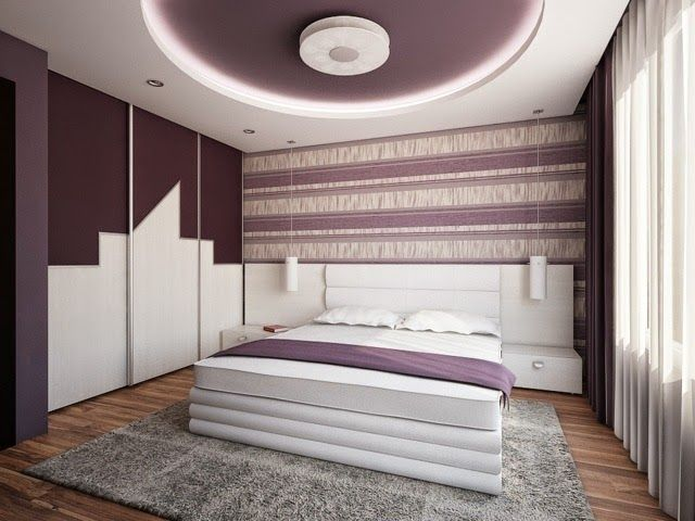 Interior Design For Small Bedroom Equipped With Pop Ceiling Design