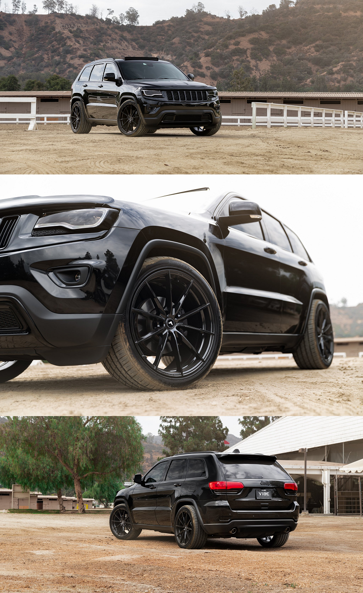 Black Jeep Grand Cherokee With Custom Front Bumper On Lionhart