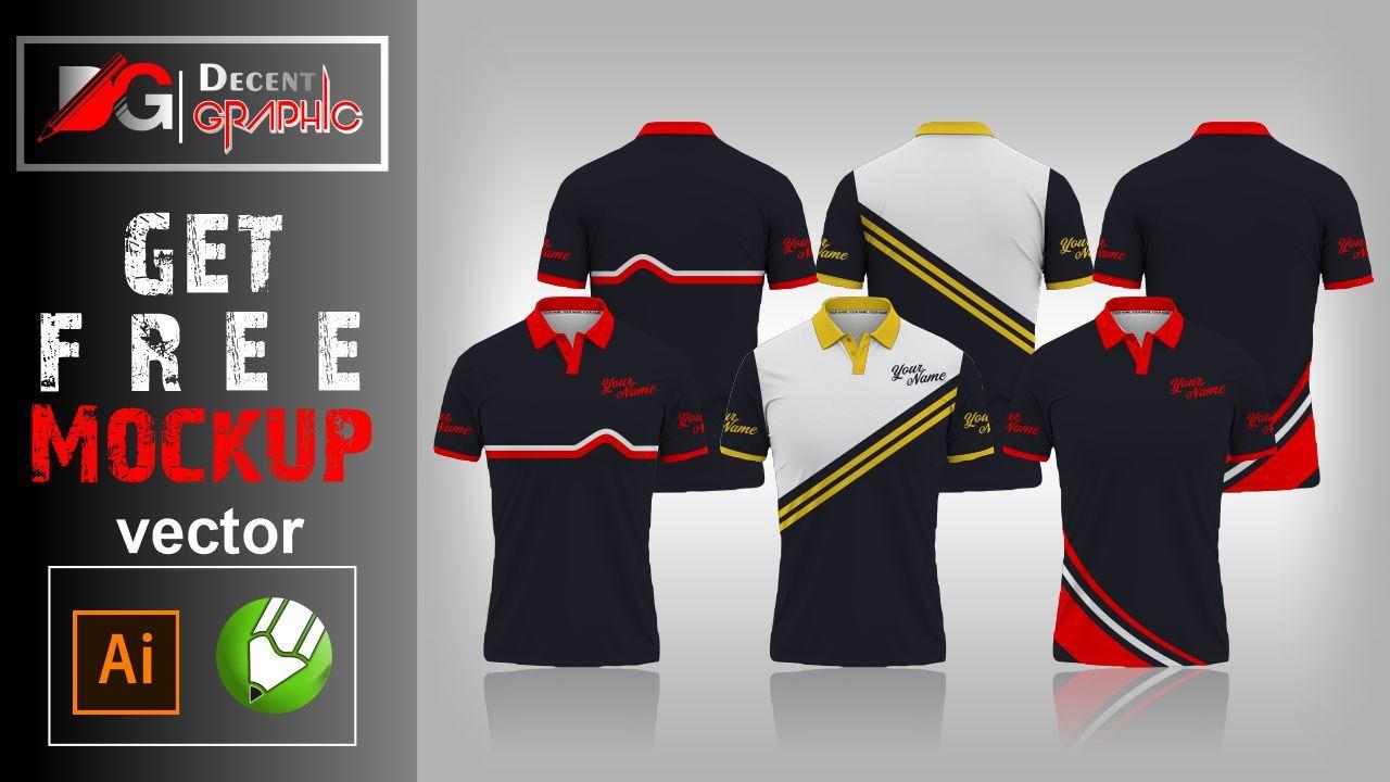 Download Free Polo Shirt Editable Mockup Design Mockup Design Coreldraw Vector Free