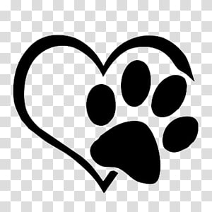 White Heart And Footprint Illustration Dog Cat Paw Decal Sticker Love Paws Transparent Background Png Clipart Paw Illustration Cat Paw Print Paw Cartoon