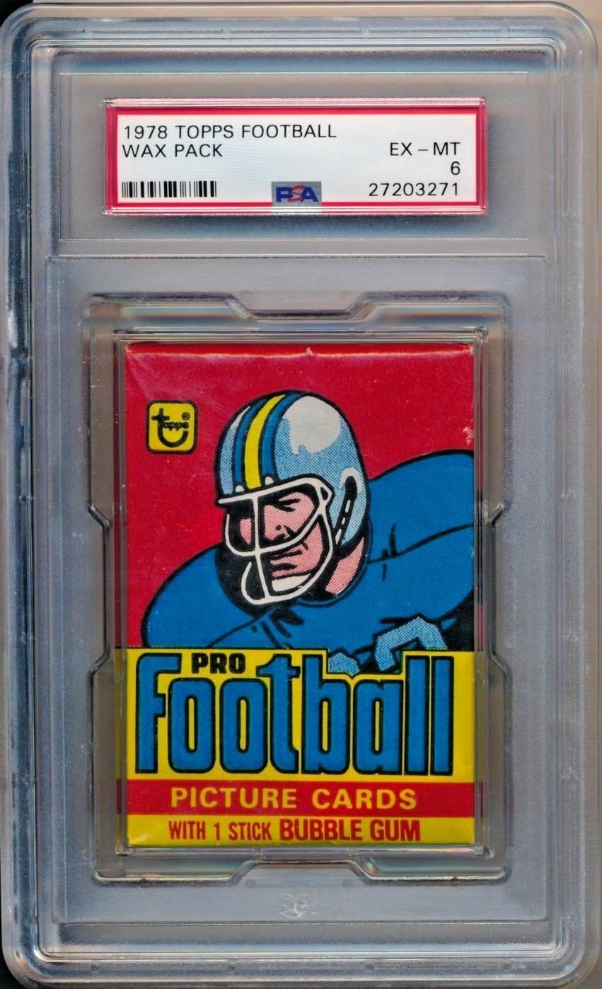 1978 topps football factory sealed unopened wax pack grade