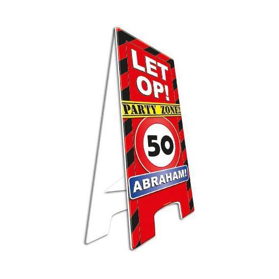 auto 50 jaar Waarschuwingsbord 50 jaar Abraham. Dit waarschuwingsbord is  auto 50 jaar