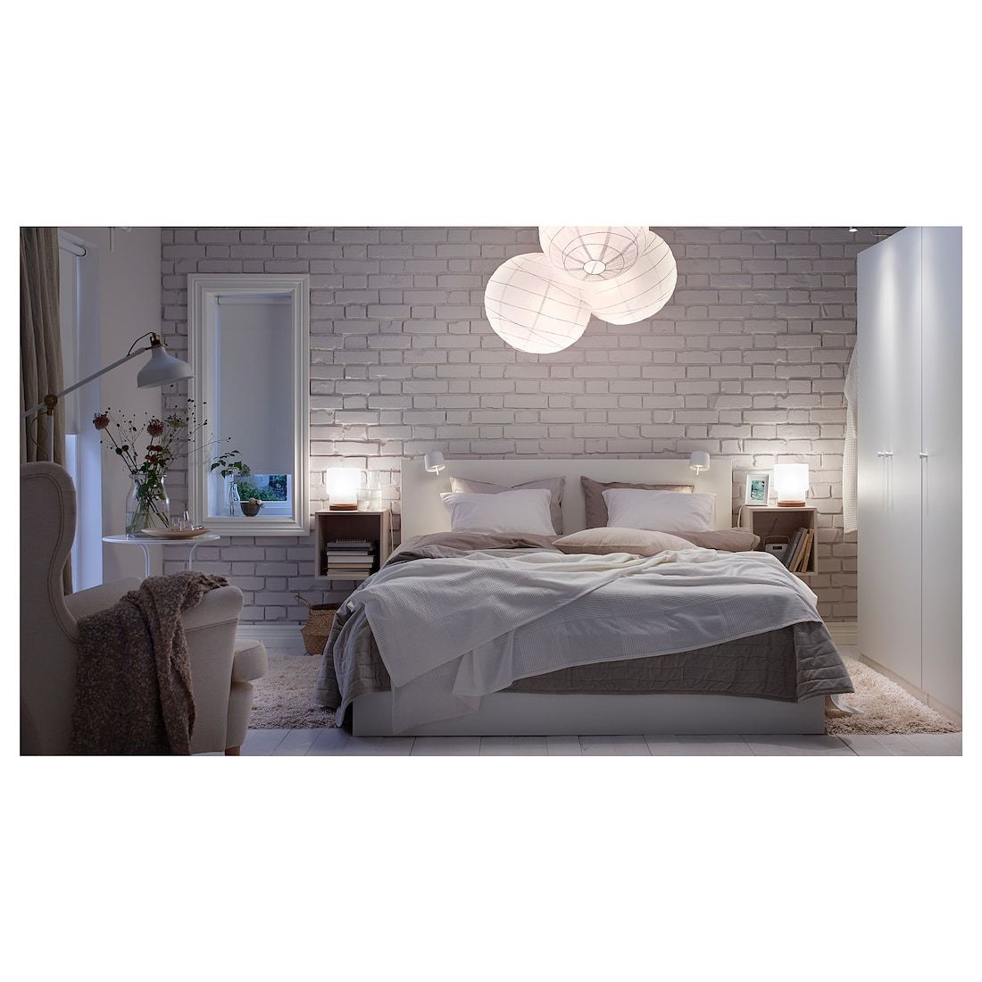 Malm High Bed Frame 4 Storage Boxes White Lonset High Bed