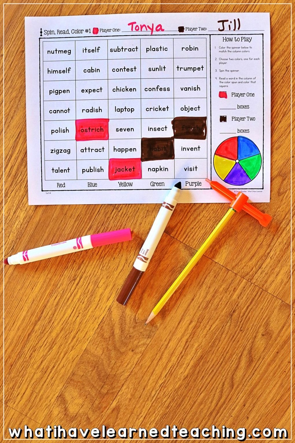 Partner Phonics Games For Decoding Two Syllable Words Phonics Games Multisyllabic Words Phonics