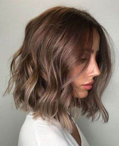 50 Best Medium Length Hairstyles For Thin Extremely Fine Hair Thick Hair Styles Haircut And Color Short Wavy Hair