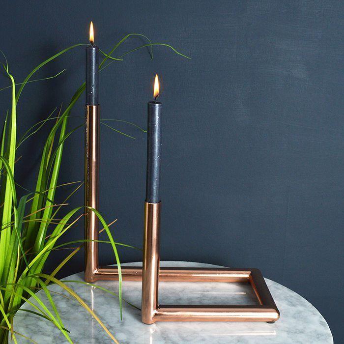objetos de cobre candelabro