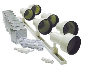 Buy Trade show track lighting kit with 6 line voltage fixtures.
