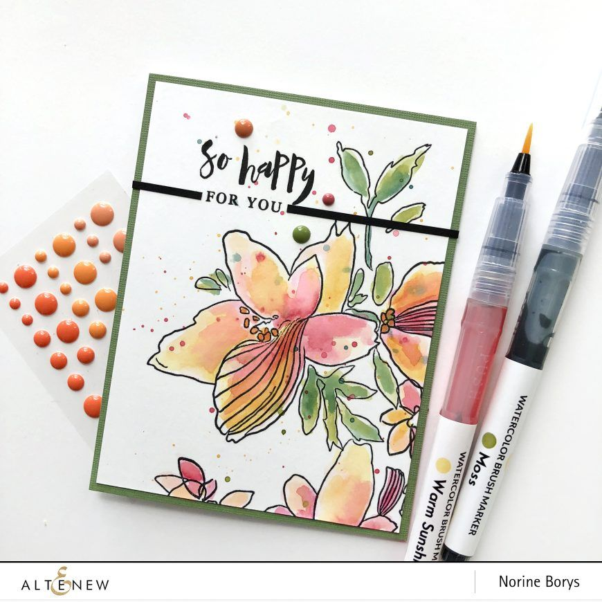Altenew Watercolor Brush Markers Release Blog Hop Giveaway