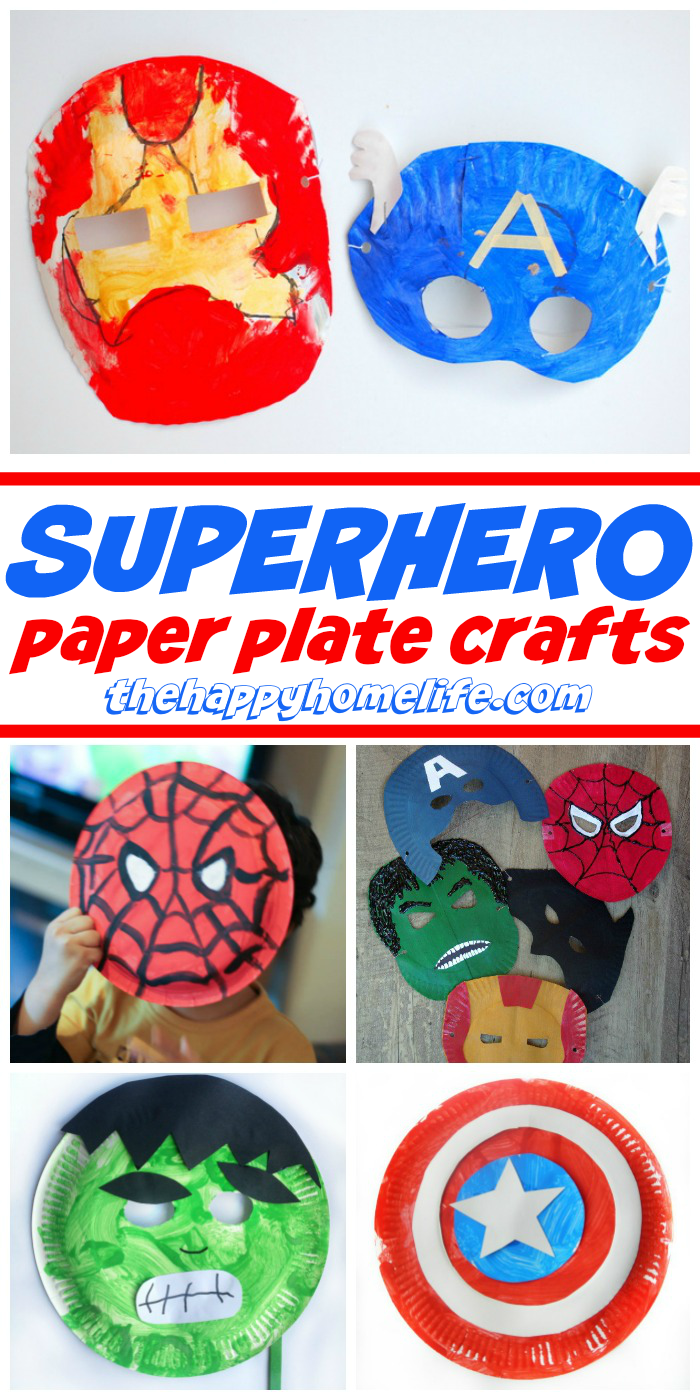Superhero Paper Plate Crafts for Kids #superherocrafts