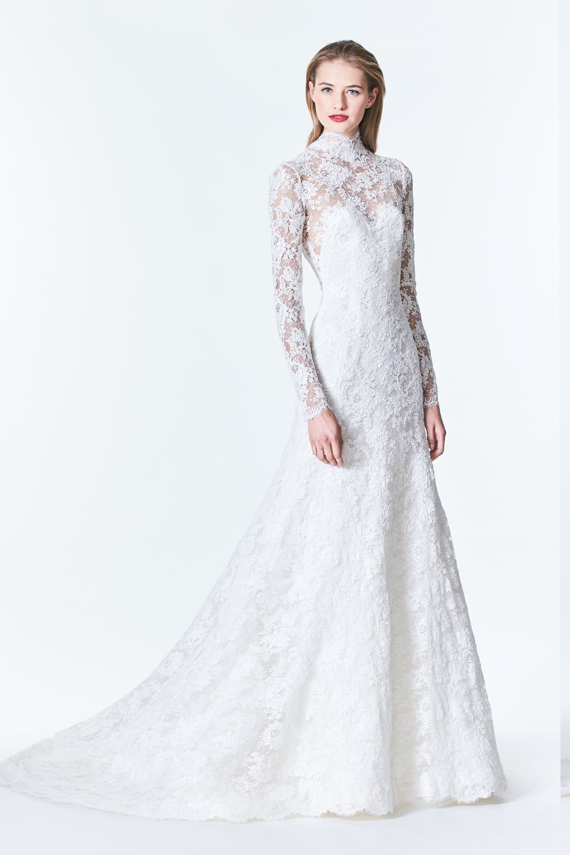 Carolina Herrera Wedding Gown Emilie 2017 Fall Collection Carolinaherre Carolina Herrera Bridal Carolina Herrera Wedding Dress Wedding Dress Long Sleeve