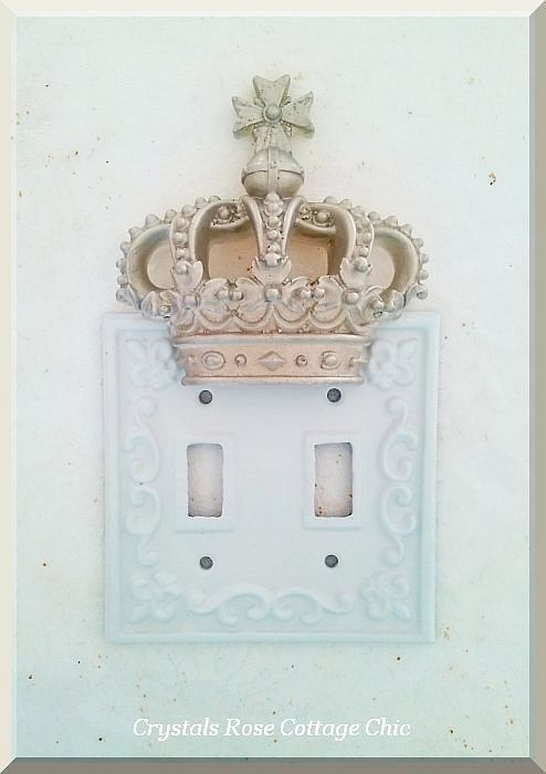 French Country Crown Light Switch Plate Cover By Sweetlilboutique