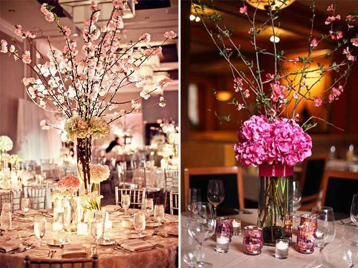 cherry blossom wedding centerpieces | Cherry blossom wedding decor