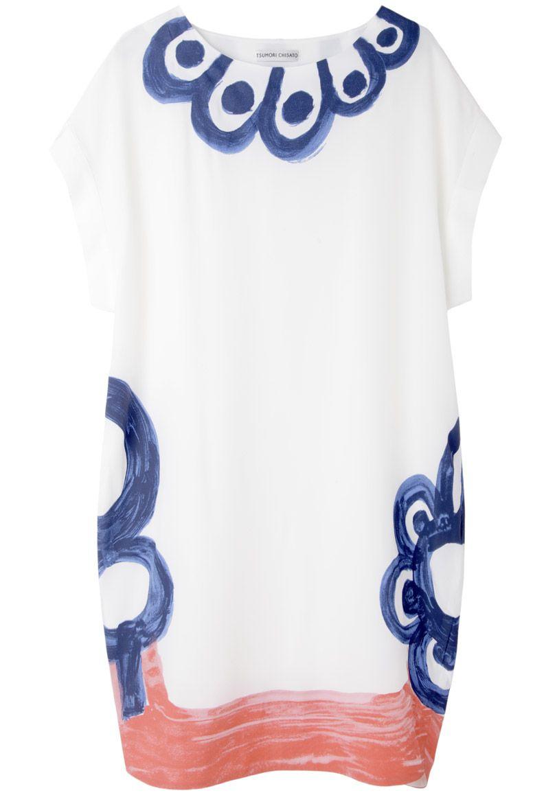 Tsumori Chisato / Marguerite Scallop Print Dress. <3<3<3 LOVE THIS!