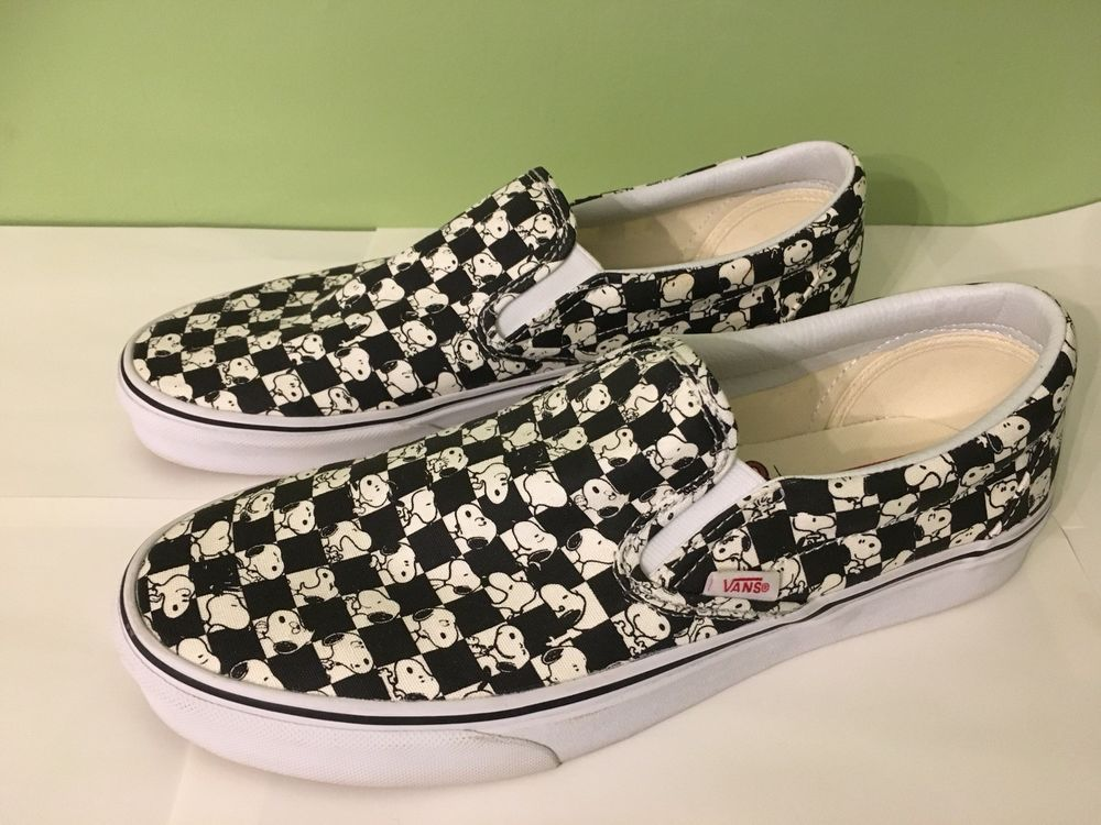 42a183ac257 Vans x Peanuts Slip-On Snoopy Chex Checkerboard Shoes Men Size 10.5 - Womens  12  fashion  clothing  shoes  accessories  mensshoes  athleticshoes (ebay  link)