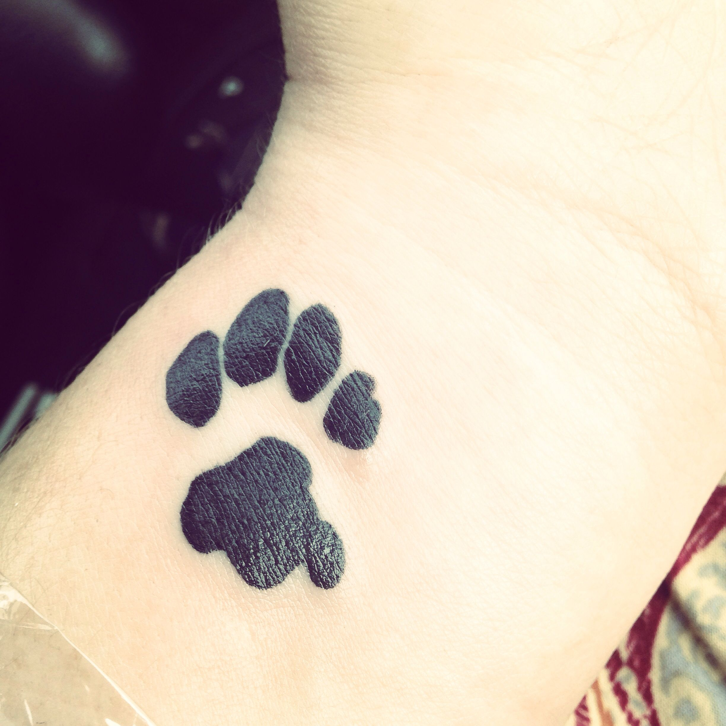 Paw Print tattoo that's my beloved cats actual paw print! I