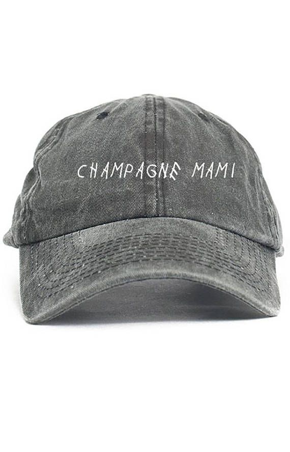 56a347131e2 Champagne Mami Dad Hat Adjustable Baseball Cap New - Black Denim ...