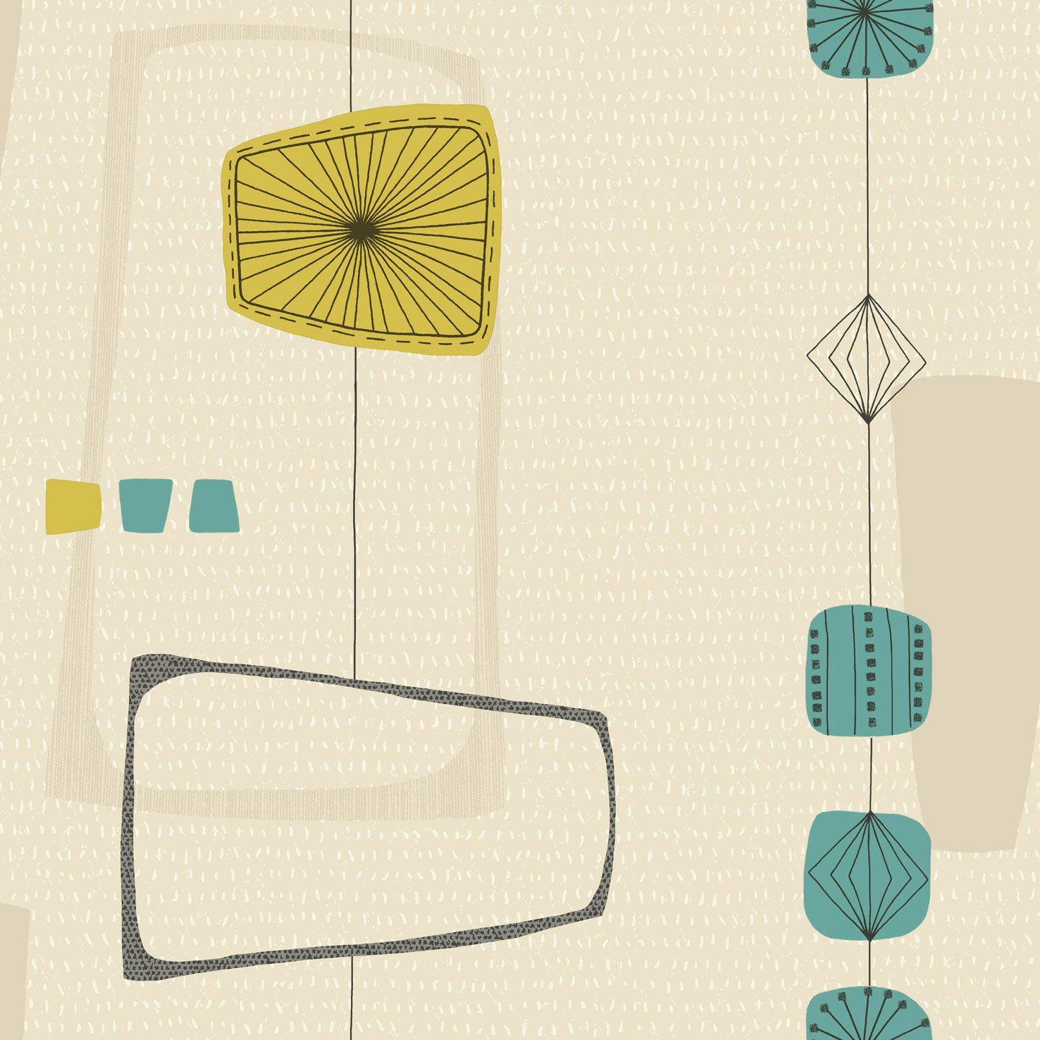 Marcelo - Teal/Mustard : Wallpaper and wallcoverings from Holden Decor Ltd. | Colors | Decor ...