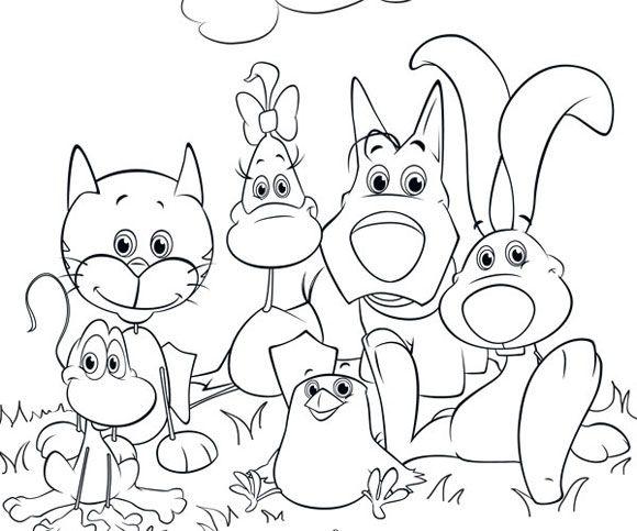 Rai Yoyo Cuccioli Gruppo Disegnidacolorare Colorare Cuccioli