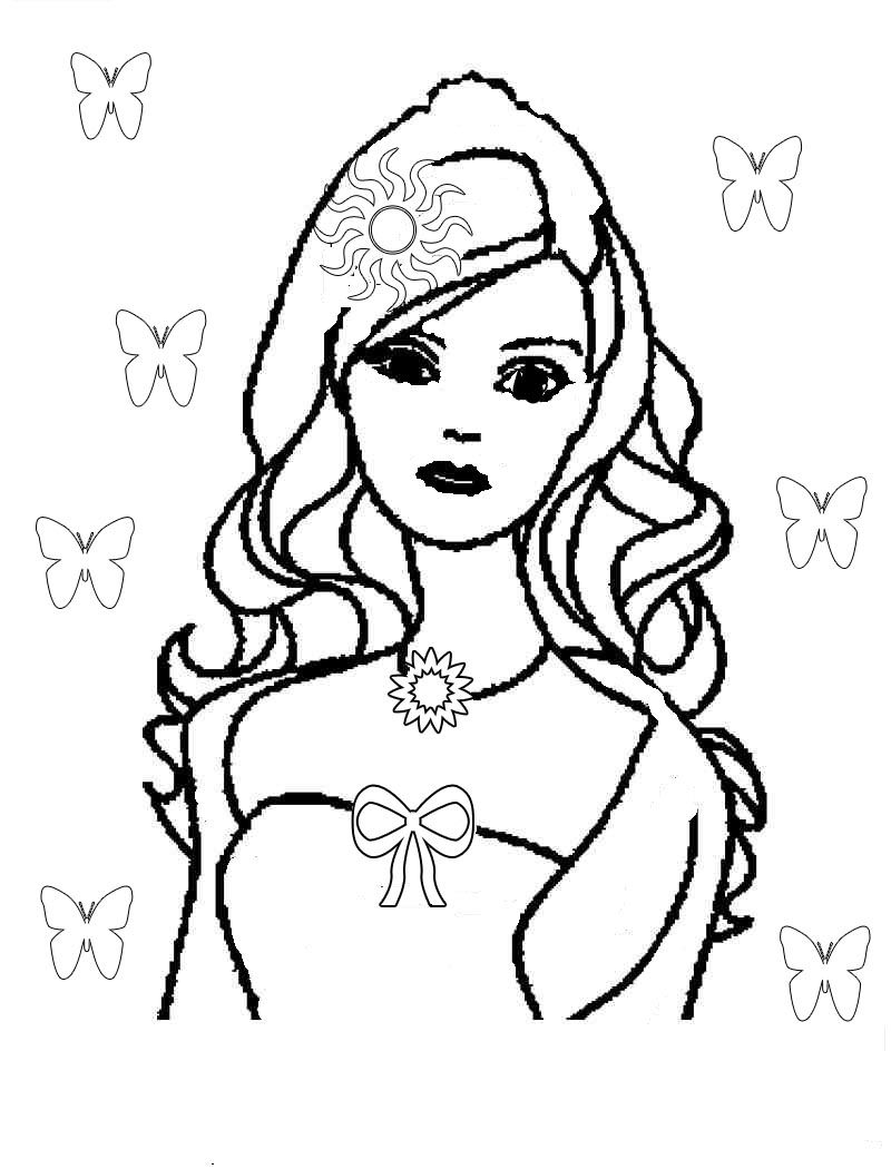 barbie coloring pages free # 62