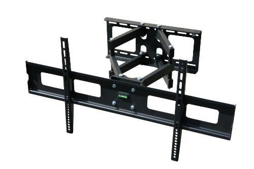 Mount It Dual Arm Articulating Tv Wall Mount For 37 63 Lcd Led Plasma Tv Black Color Full Motion Articulating 20 Pullout Wall Mounted Tv Tv Mounts Tv Wall