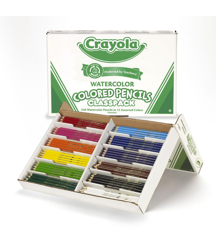 Crayola 240 count Watercolor Colored Pencil Classpack, 12 colors