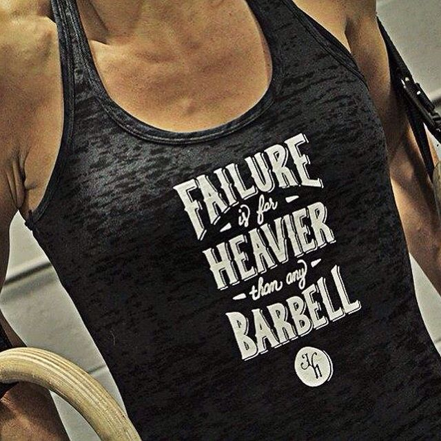 Pick up that bar! It's not heavy, it's not impossible, you can, you just, you will! Because FAILURE IS FAR HEAVIER THAN ANY BARBELL. www.jekyllhydeapparel.com