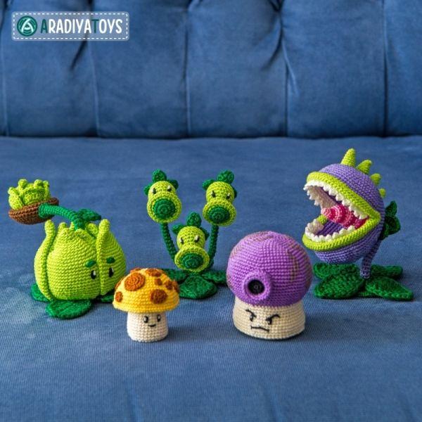 Plants vs. Zombies Bundle nr 2 amigurumi pattern by AradiyaToys ...