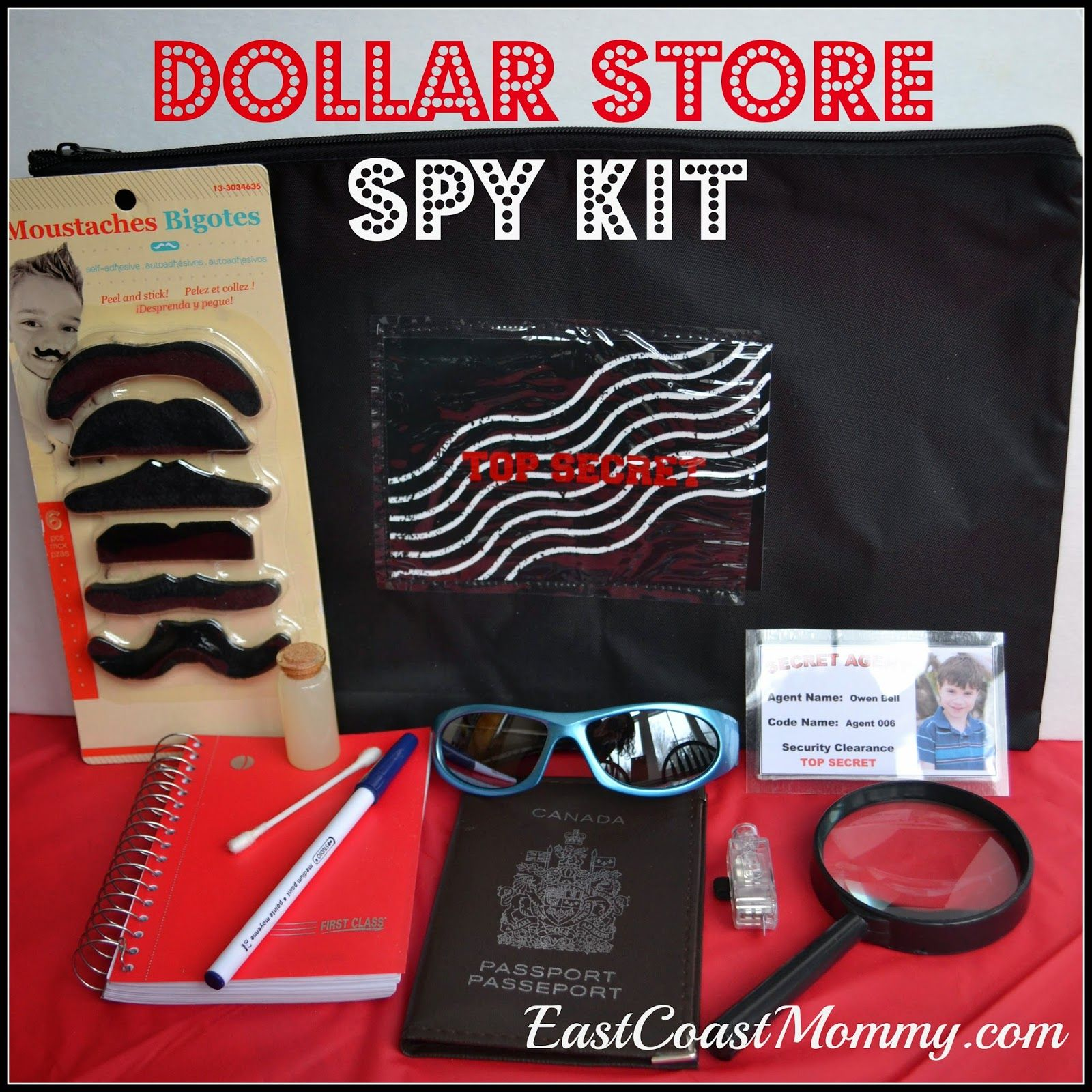 how to make a spy kit and spy book