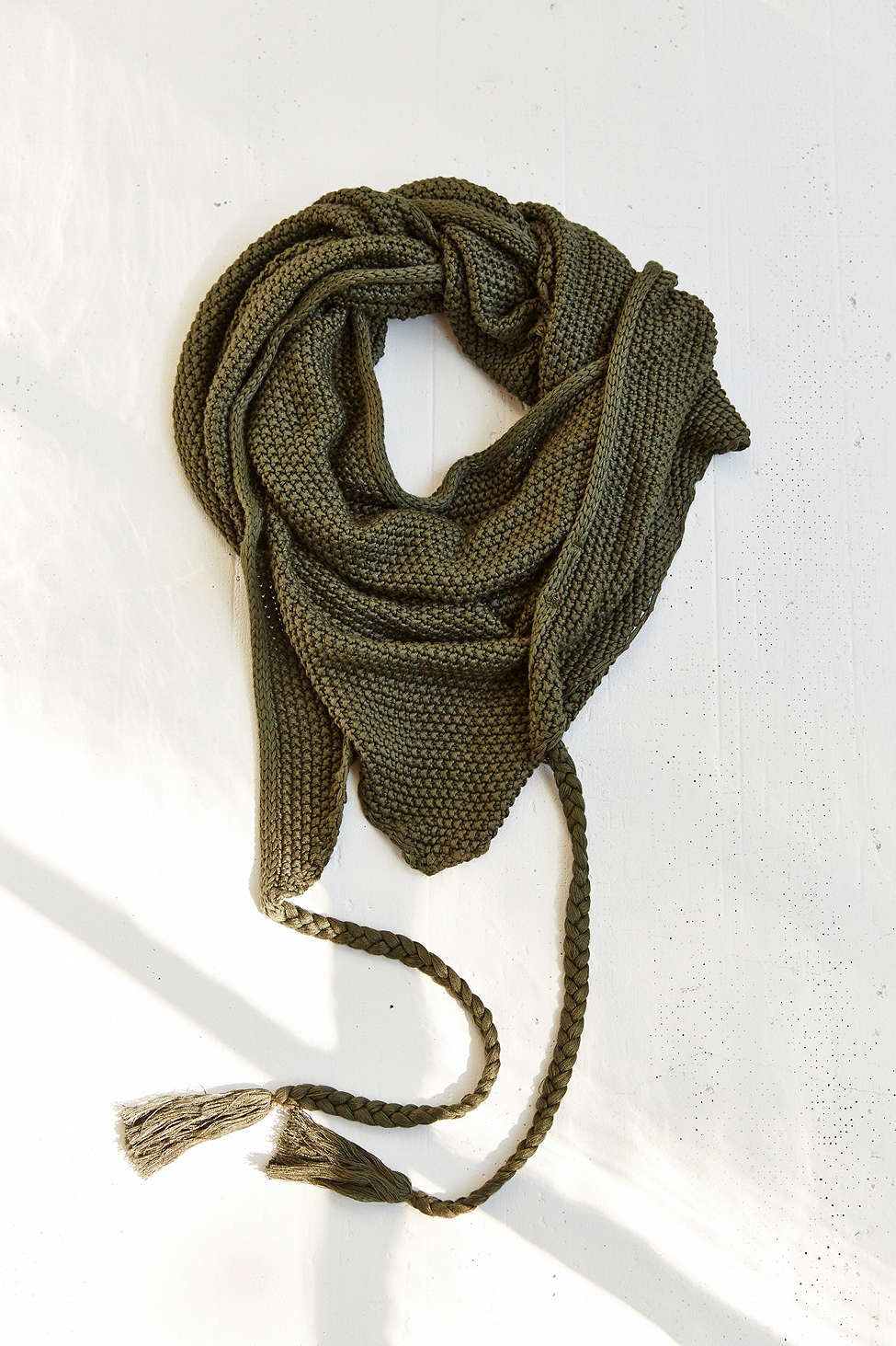 Oversized Tassle Triangle Scarf