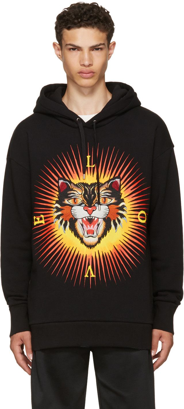 cbc5cae77b7 Gucci - Black Angry Cat  Modern Future  Hoodie