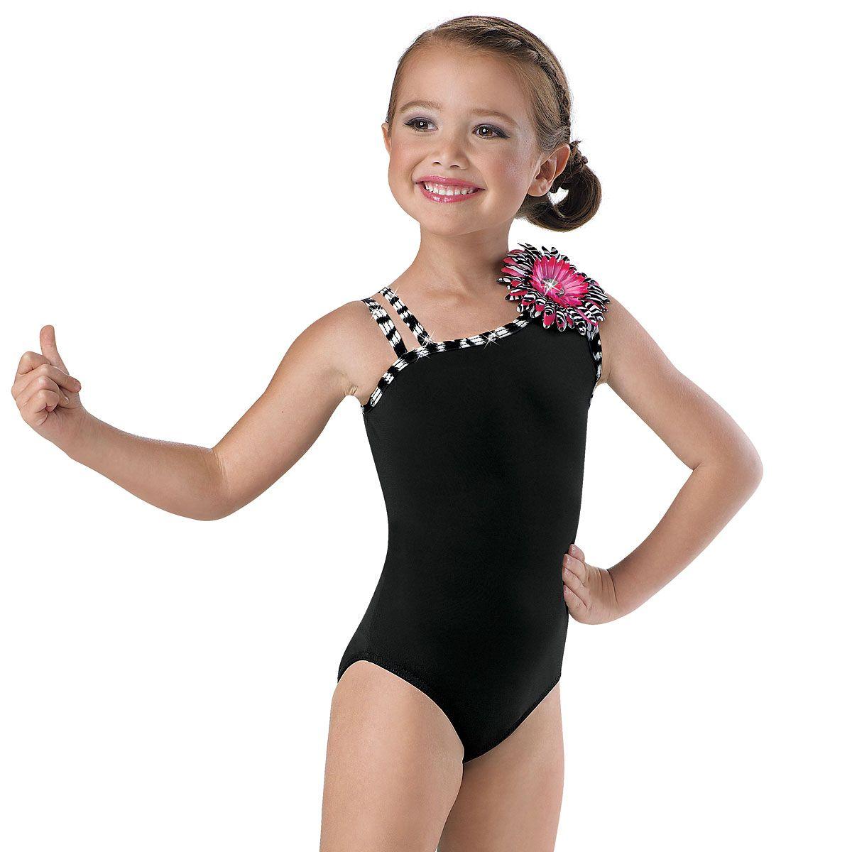 NWT Zebra camisole Leotard dance acro Costuming Girls sizes only matte spandex