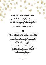 The Glamorous Standard Wedding Invitation