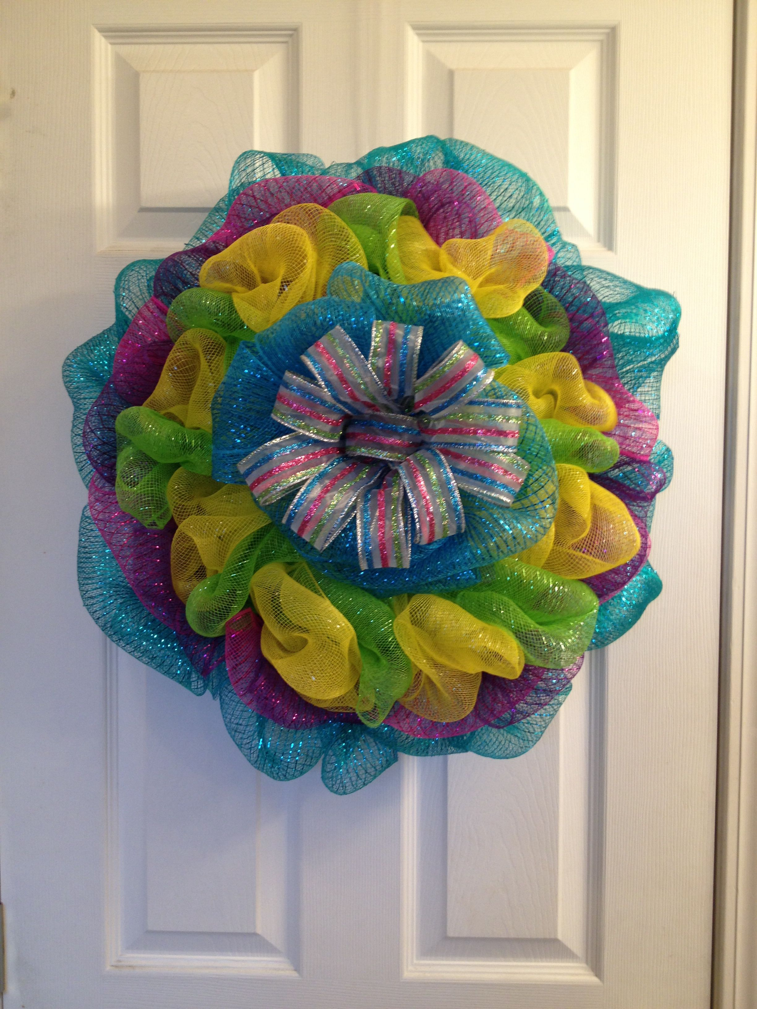 Colorful Summer/Spring burst wreath