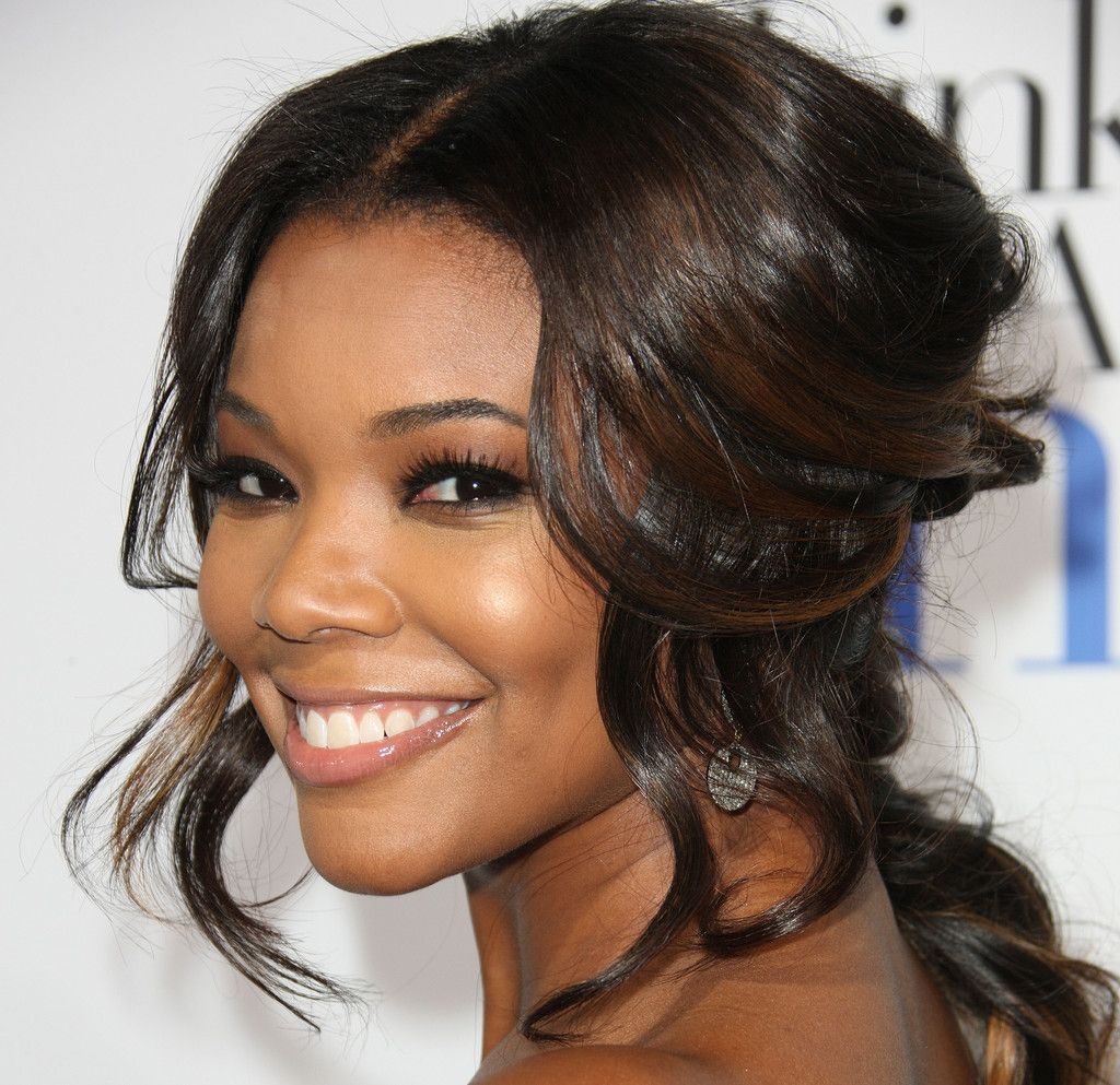 Gabrielle Union Half Up Half Down | Gabrielle union, Updos and ...