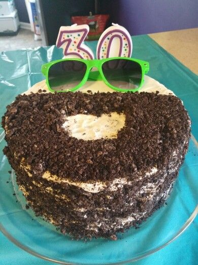 30 Birthday Man Beard Cake