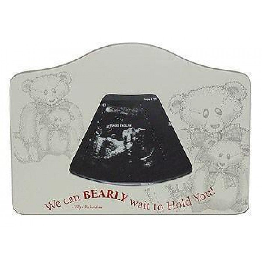 Images By Ellyn Bearly Wait To Hold You Sonogram Picture Frame ...