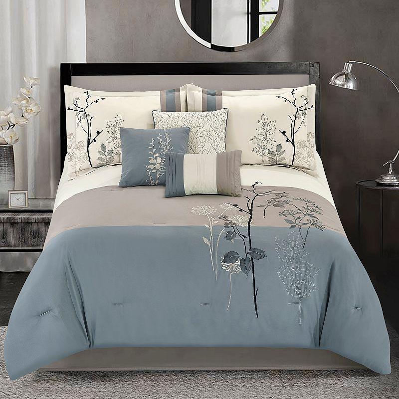 Conner 7 Piece Comforter Set Blue Comforter Sets Bed Decor Duvet Cover Sets
