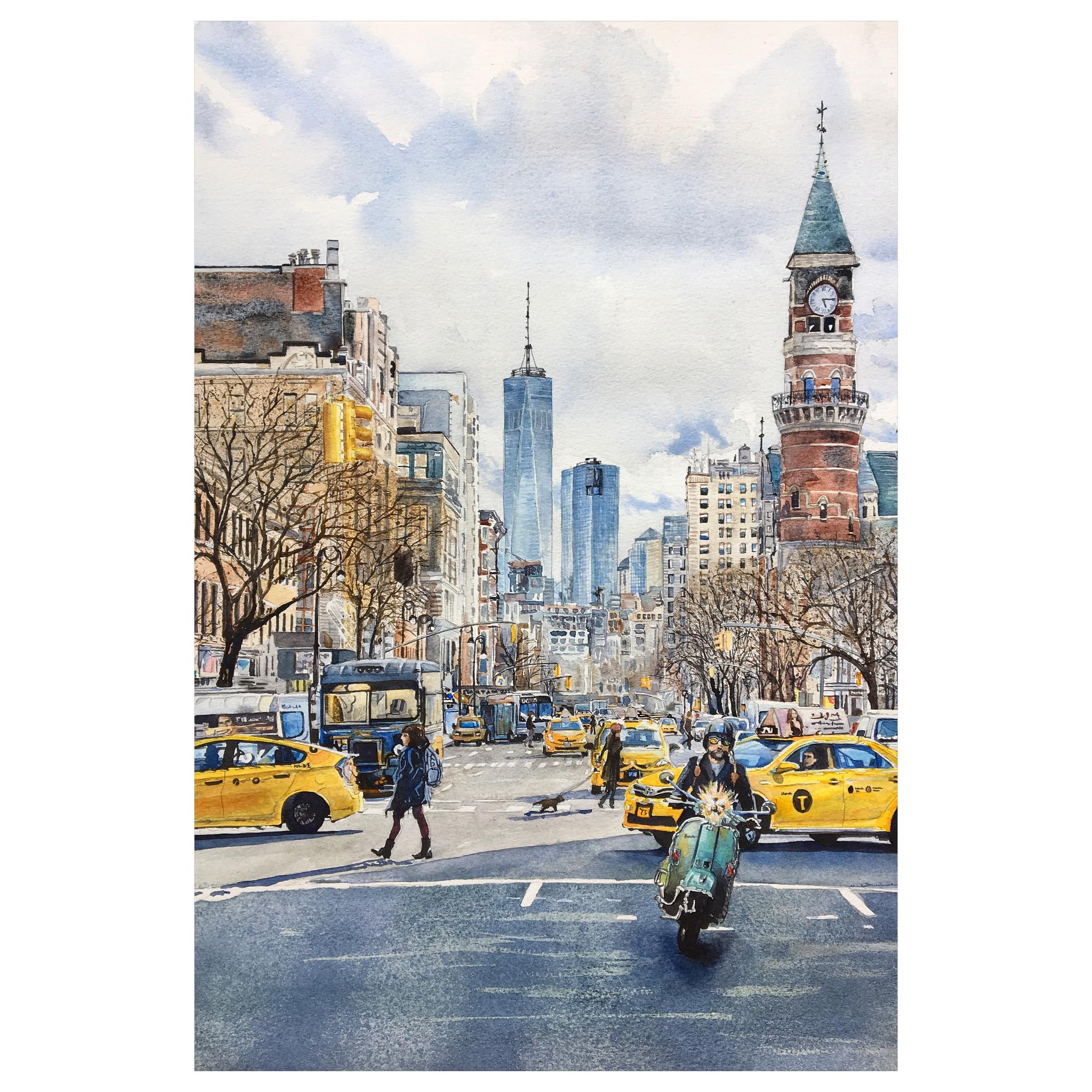 Watercolor New York: New York, Watercolor By Catarina Alkemark