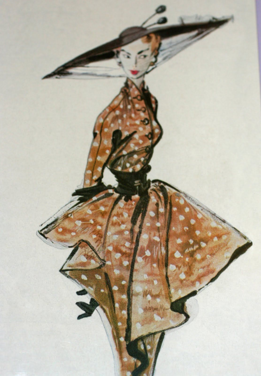 Photo of Parisian couture fashion sketches