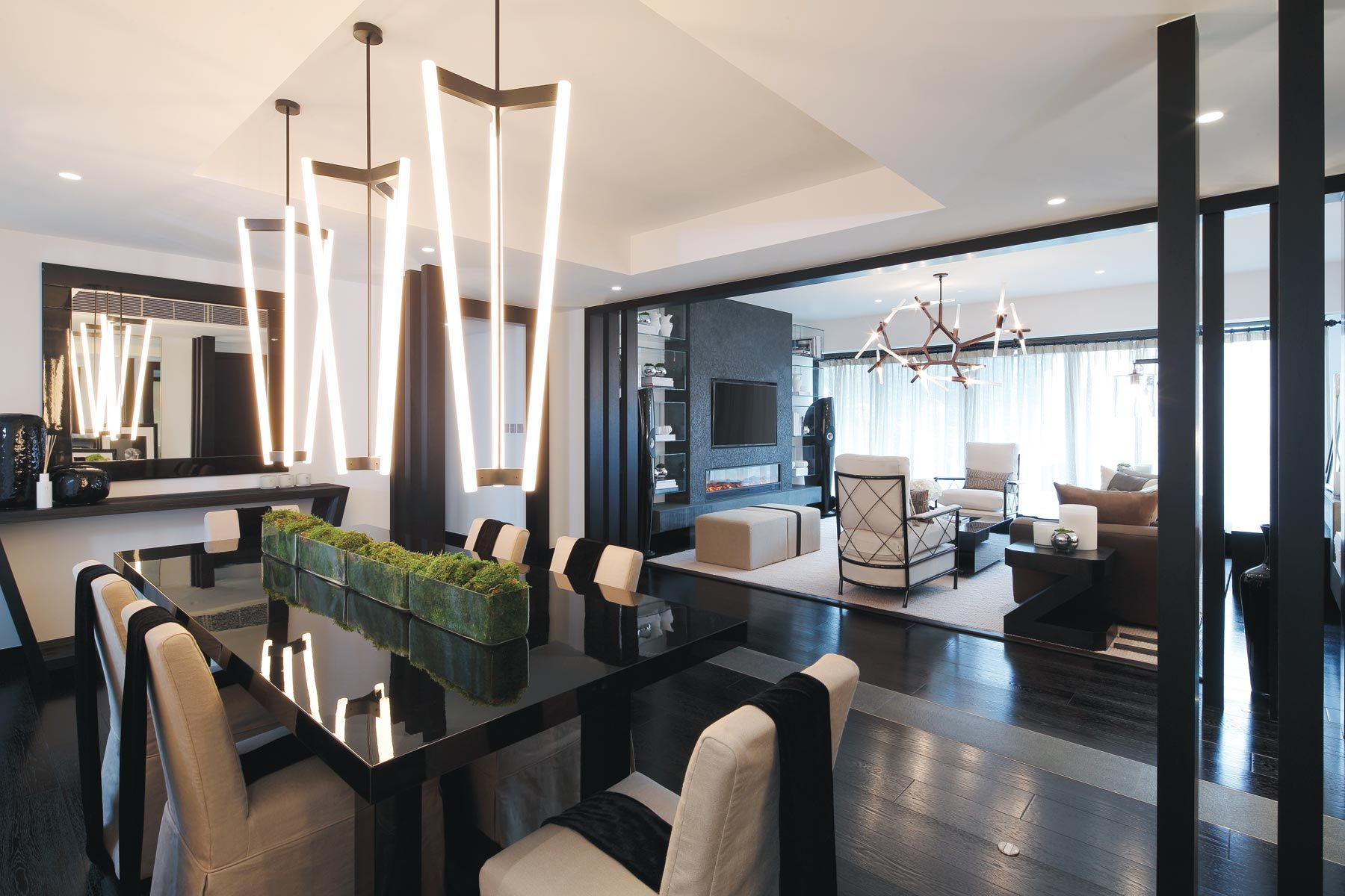 This interior design project by kelly hoppen was set in hong kong and has a lot of personality in it