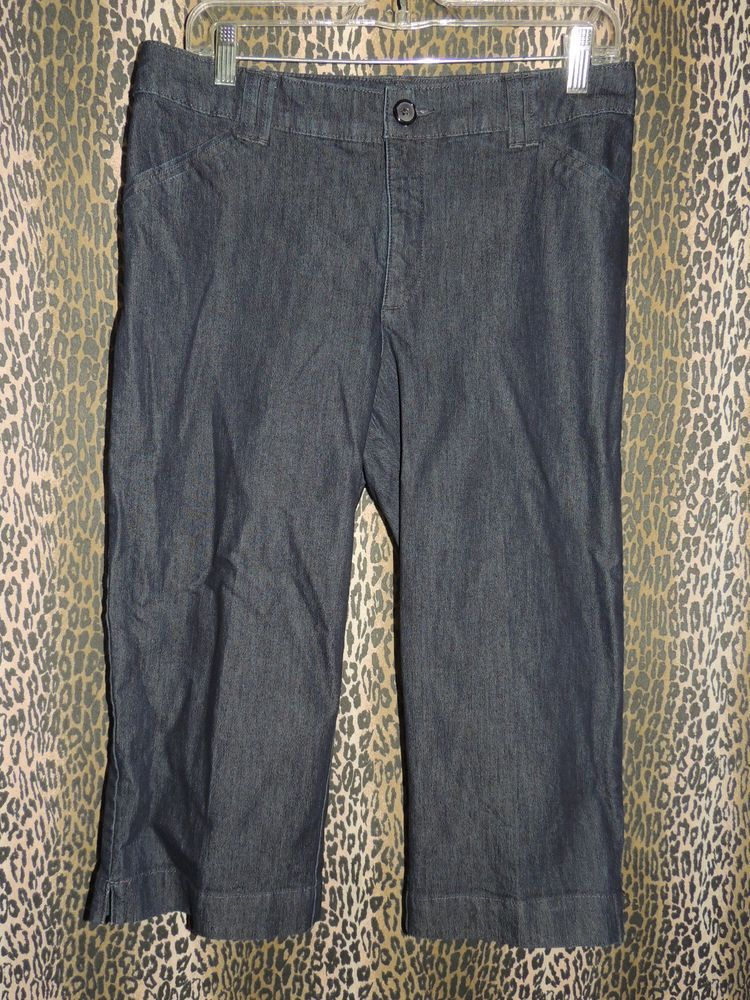 Lee Just Below The Waist Women's Denim 4 PKT Cropped Capri Blue Jeans Size 10M  #Lee #CapriCropped