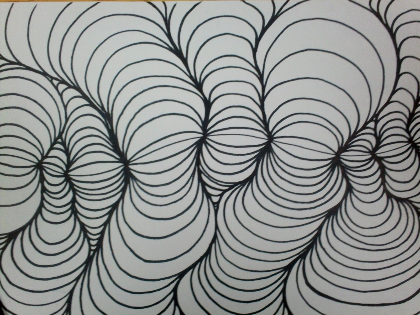 I Was Asked If I Could Go Into A Bit More Detail Concerning The Line Design Process I Think The Easiest Way Is W Doodle Art Designs Easy Op Art Line